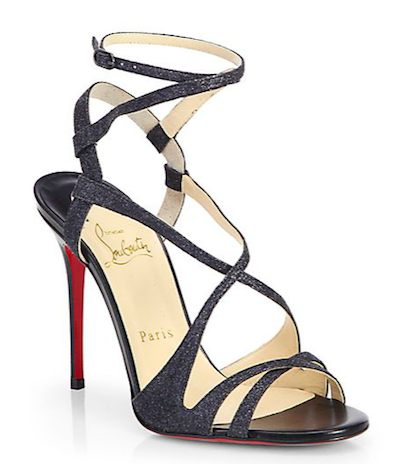 Audrey Glitter Sandals from Christian Louboutin