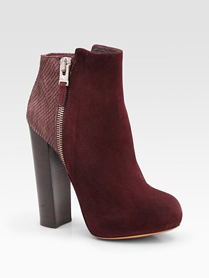 Paramour Suede and Snake Ankle Boots from B Brian_Atwood