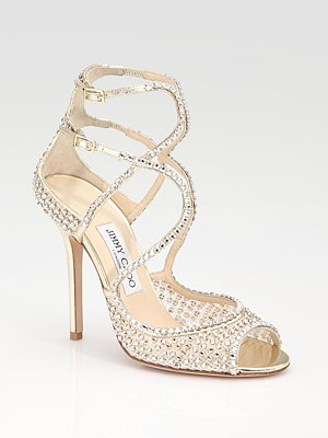 Jimmy Choo Crystal Encrusted Sandals