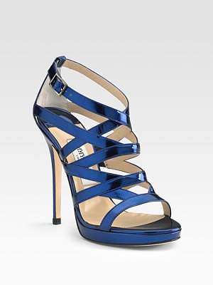Jimmy Choo Zero Mirror Platform Sandals