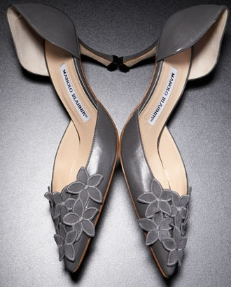 Manolo Blahnik Flower D'Orsay Pumps