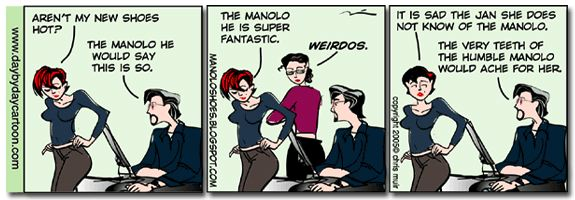 Manolo in the funny pages!