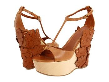 Alexander McQueen 3D Flower Platform Sandals