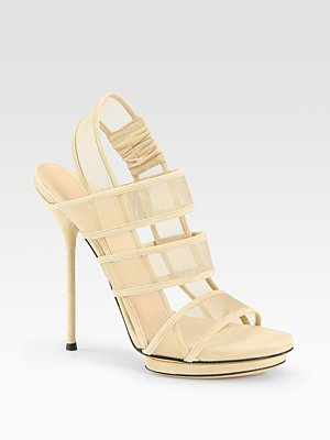 Gucci Bette Slingback Platform Sandals