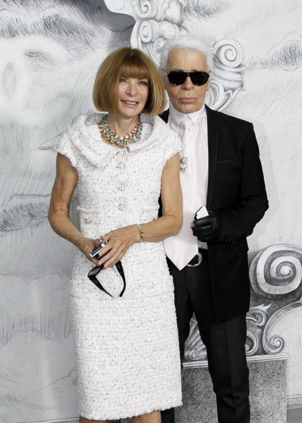 Wintour and Lagerfeld, Scaring the Horses.