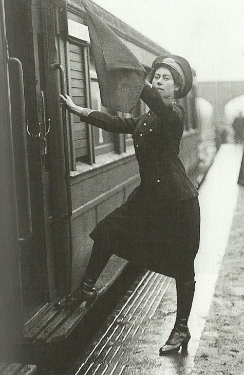 Female Conductor on the Metropolitan Railway, 1916