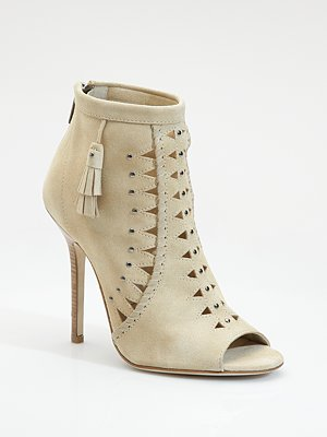 Jimmy Choo Cutout Suede Ankle Boot