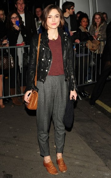 Keira Knightly in brown flats