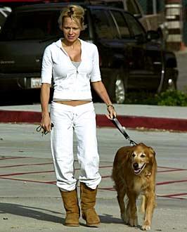 Pamela Anderson wearing the Uggs