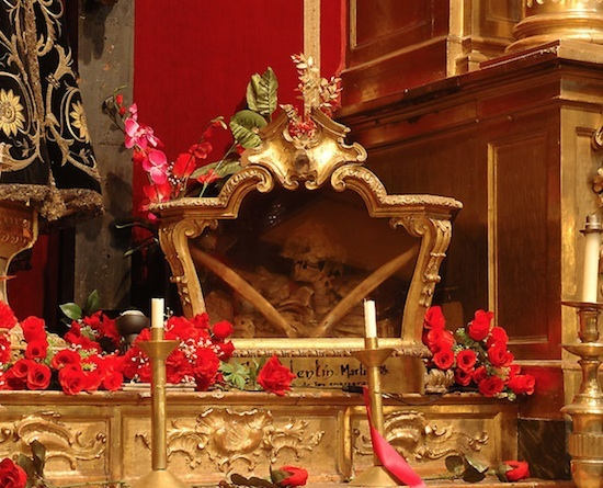 The Reliquary of Saint Valentine in the church of San Anton in Madrid