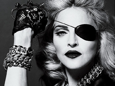 An Eyepatch, Brass Knuckles, and Photoshop = Madonna